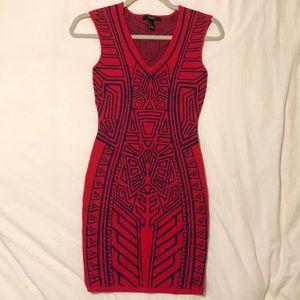 Geometric Print Mini-Dress